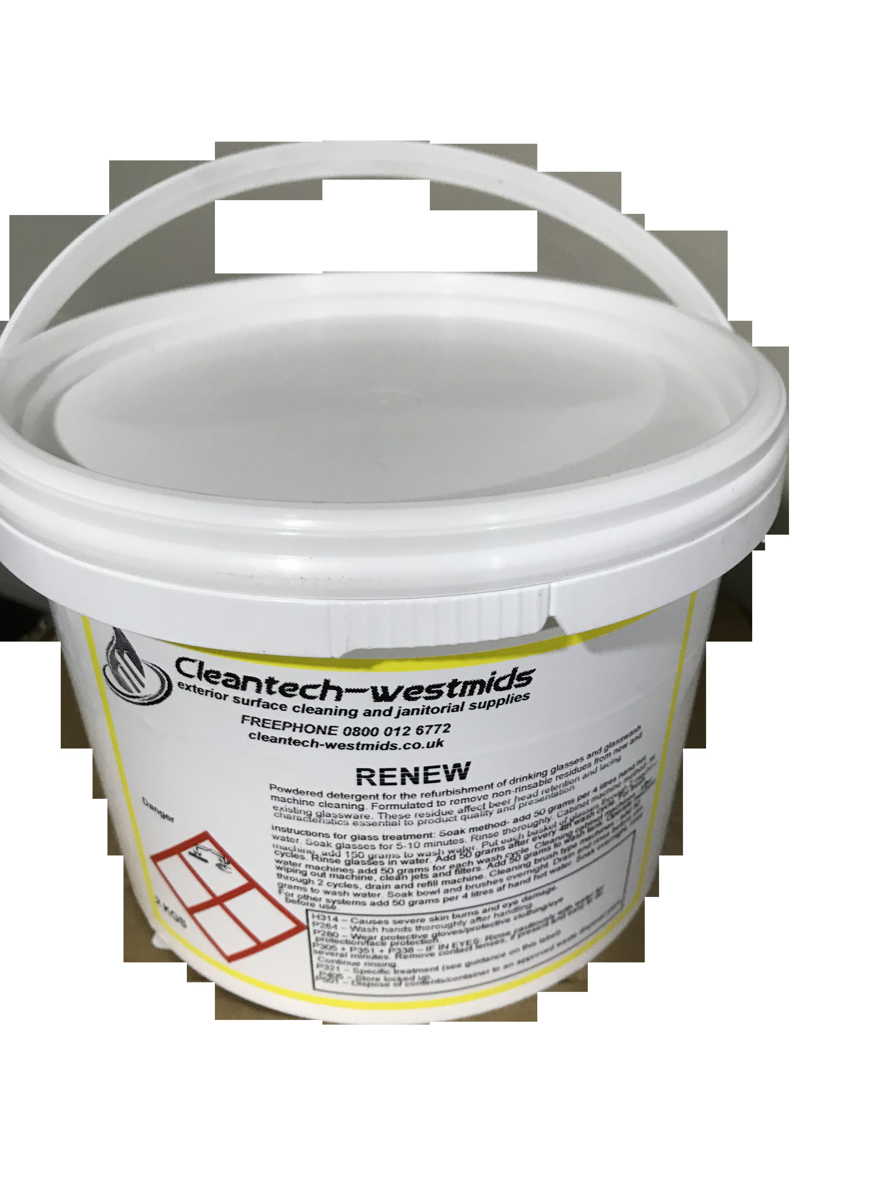 Glass Renew Powder 2kg Cleantech Westmids